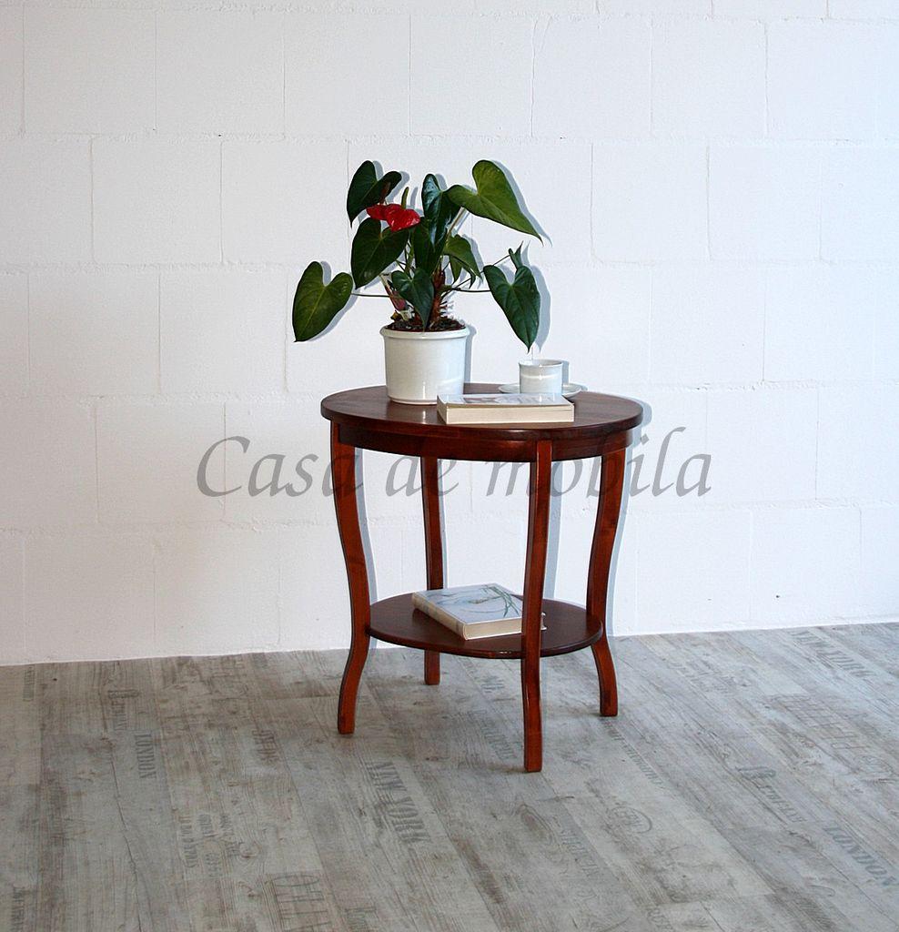 Tisch Beistelltisch Teetisch oval 57 cm kirschbaumfarben – Bild 4