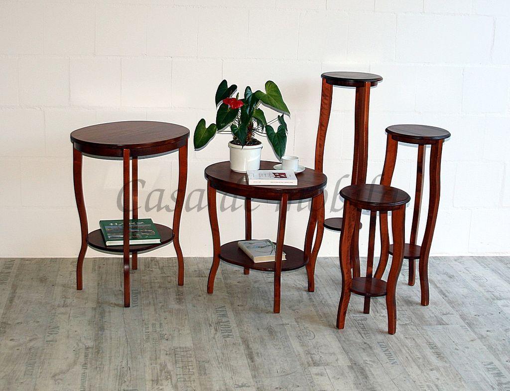 Tisch Beistelltisch Teetisch oval 57 cm kirschbaumfarben – Bild 7