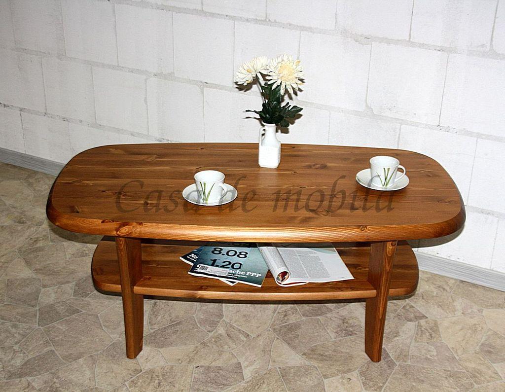 couchtisch 116x48x62cm mit ablageboden kiefer massiv provence lackiert. Black Bedroom Furniture Sets. Home Design Ideas