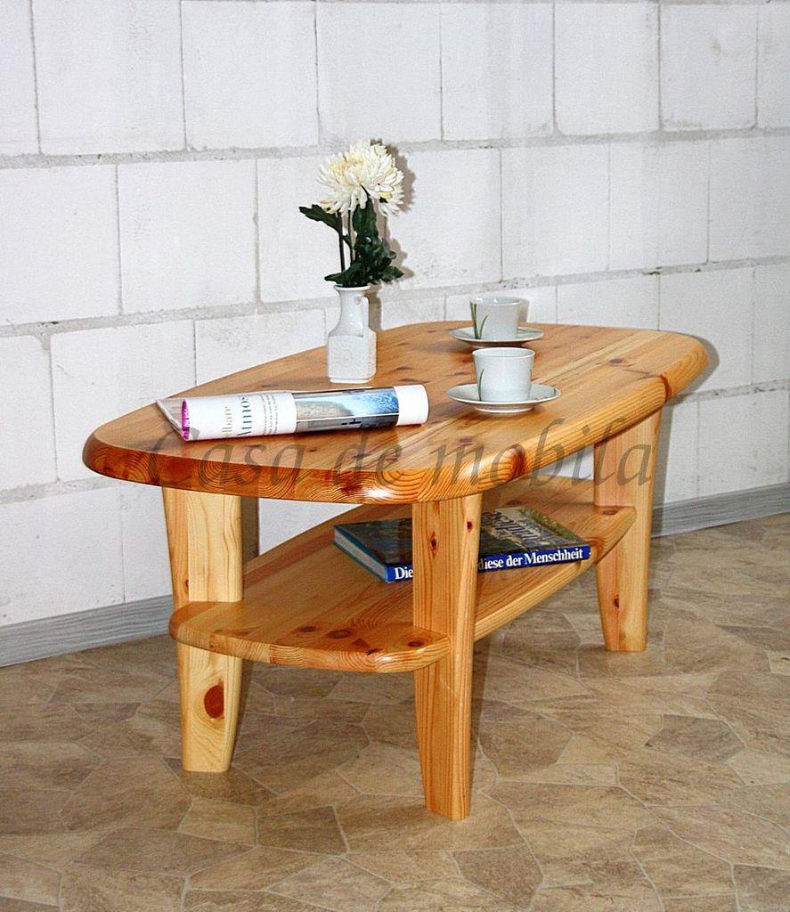 couchtisch 116x48x62cm mit ablageboden kiefer massiv natur lackiert. Black Bedroom Furniture Sets. Home Design Ideas