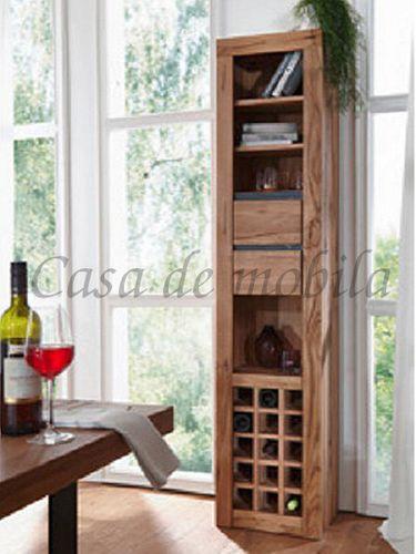 Weinregal für 15 Flaschen Zerreiche mit Schubladen