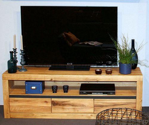 TV Kommode mit Schubladen Zerreiche Natur geölt – Bild 1