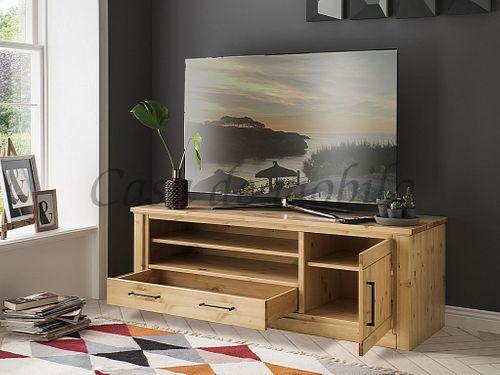 TV-Board Kiefer massiv sandfarben gebeizt lackiert – Bild 2