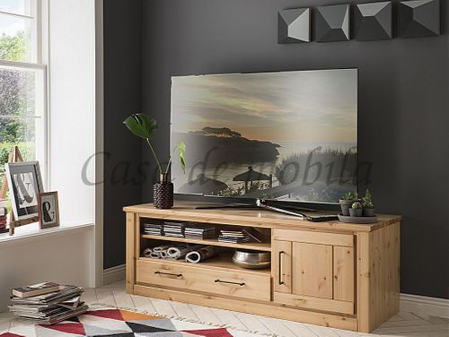 TV-Board Kiefer massiv sandfarben gebeizt lackiert – Bild 1