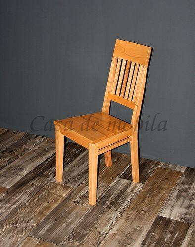 Holzstuhl Stuhl mit Holzsitz Buche massiv lackiert Vollholz Kernbuche – Bild 4