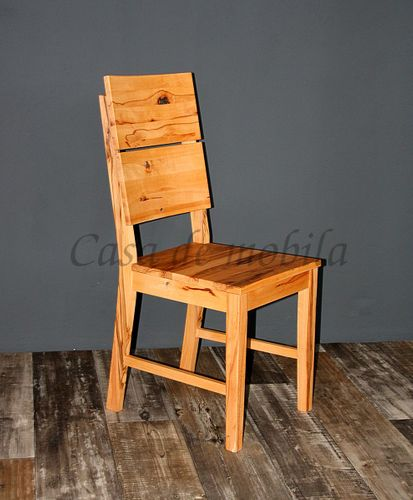 Holzstuhl Stuhl mit Holzsitz Wildbuche massiv geölt Vollholz Stühle – Bild 2