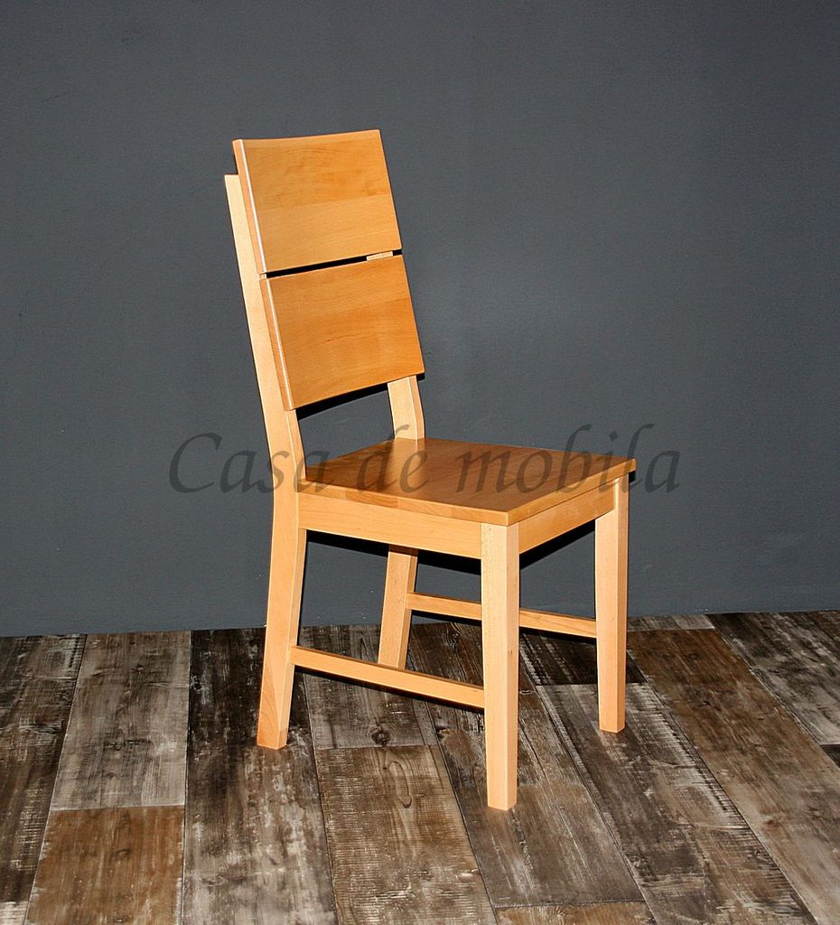 Massivholz Stuhl Buche Massiv Lackiert Küchenstuhl Holz Stühle