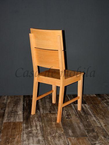 Holzstuhl Stuhl mit Holzsitz Buche massiv lackiert Vollholz Stühle – Bild 3
