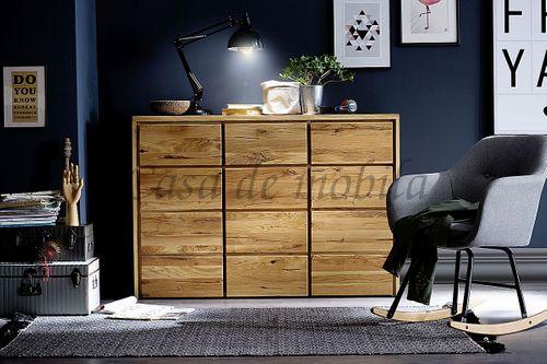 Kommode rustikale Wildeiche geölt Schlafzimmerkommode Massivholz – Bild 3