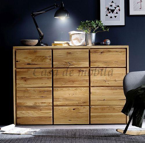 Kommode rustikale Wildeiche geölt Schlafzimmerkommode Massivholz – Bild 1