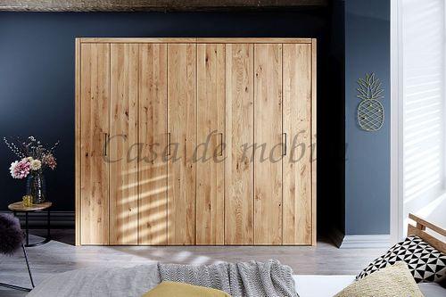 Schlafzimmer 4teilig Falttürenschrank Bett 180x200 rustikale Eiche geölt – Bild 2