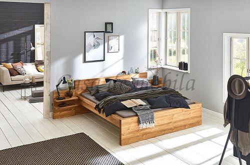 Doppelbett 180x200 Bett nordisches Massivholz gebürstet – Bild 2
