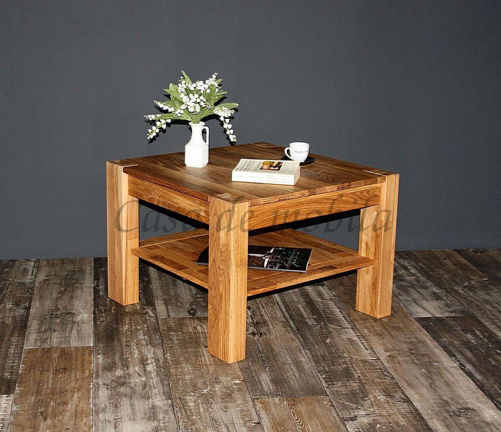 couchtisch 65x46x65cm wildeiche massiv natur ge lt. Black Bedroom Furniture Sets. Home Design Ideas