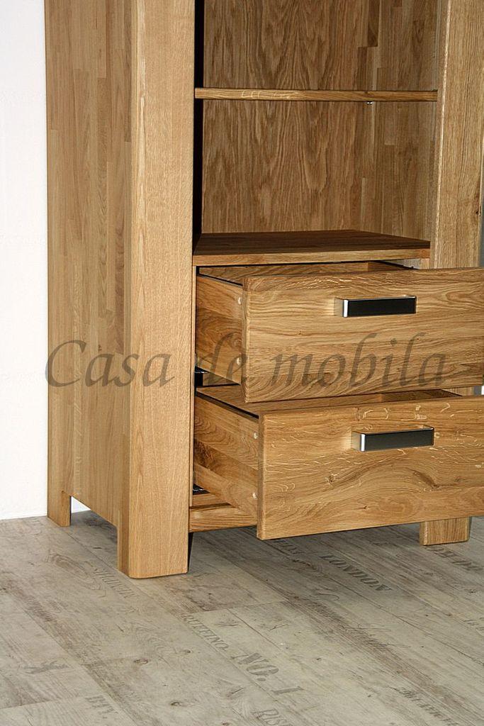 Bücherregal Wildeiche massiv Standregal Holz natur geölt – Bild 5