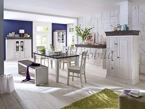 Sitzbank 160cm Kiefer massiv weiß Holzbank Vollholz Küchenbank 2farbig – Bild 3