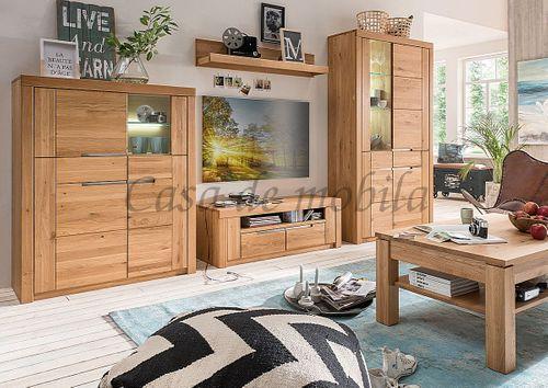 Couchtisch MÜNSTERLAND mit Schublade und Ablageboden Massivholz Ureiche massiv natur geölt – Bild 9