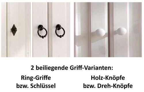 Wickelkommode weiß 125cm Wickeltisch Kiefer massiv Holz – Bild 2