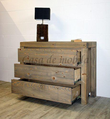 Wäschekommode BJÖRN 120x90x48cm Nordisches Massivholz rustikal gewachst Schubladenkommode – Bild 6
