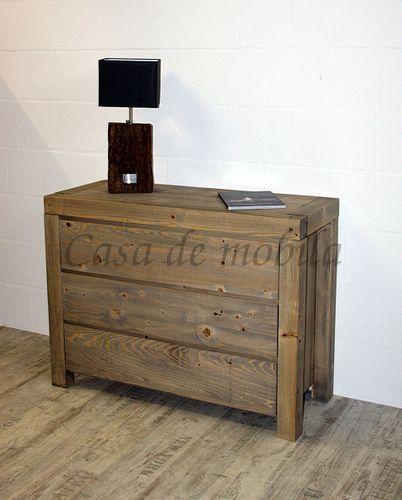 Wäschekommode BJÖRN 120x90x48cm Nordisches Massivholz rustikal gewachst Schubladenkommode – Bild 7