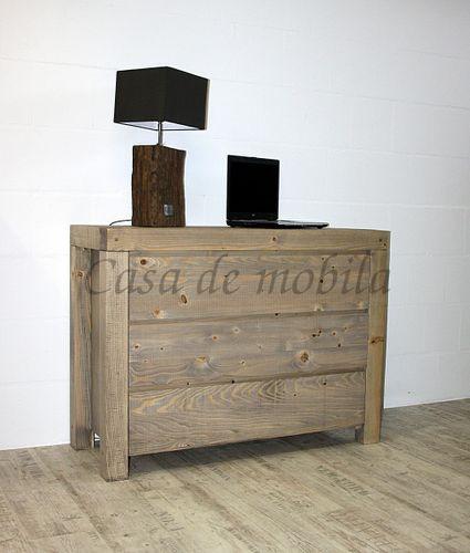 Wäschekommode BJÖRN 120x90x48cm Nordisches Massivholz rustikal gewachst Schubladenkommode – Bild 1