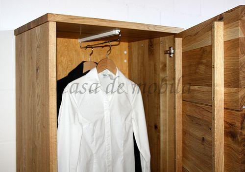 Flurschrank OLIVER 70x183x45cm Dielenschrank Massivholz geölt – Bild 8
