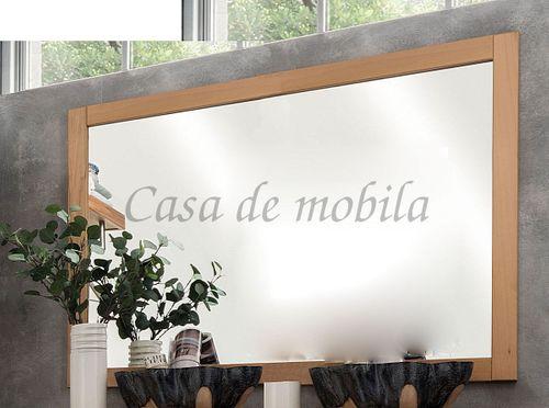 Wandspiegel HORIZONT 102x90x2cm Kernbuche geölt – Bild 1