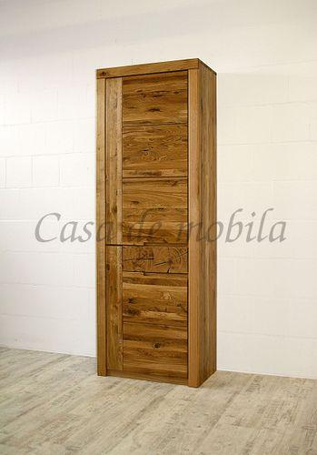 Massivholz Schrank Ureiche 71x203x40cm geölt Holzschrank massiv – Bild 1