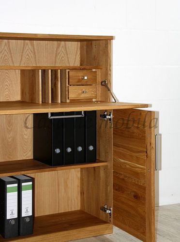 Sekretär PALERMO 100x121x40cm Wildeiche massiv geölt Computerschrank – Bild 9