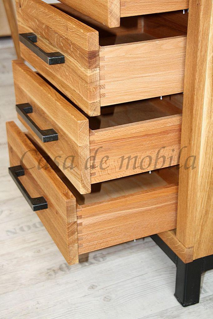 Massivholz Flur Mobel 3teilig Wildeiche Massiv Rustikal Eisen Vintage