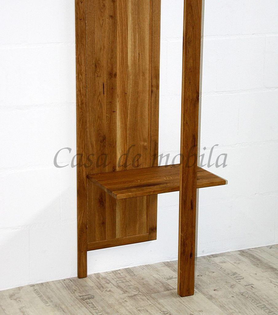 Flur-Möbel 2teilig Wildeiche massiv Vollholz rustikal Eisen Vintage – Bild 5
