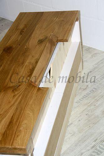 Wohnwand SEESEN 315x144x43cm 2farbig Kiefer weiß lackiert Eiche geölt Anbauwand – Bild 8