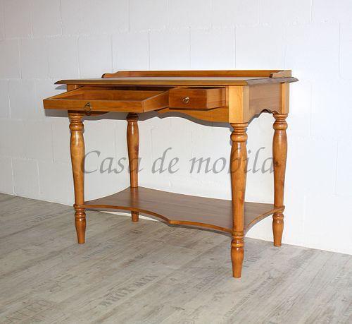 Sekretär VARESE 100x80x60cm Massivholz honigfarben Konsolentisch – Bild 9