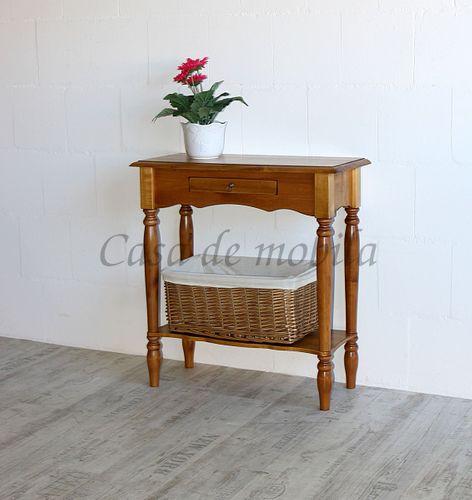 Konsolentisch VARESE 74x79x33cm Massivholz honigfarben Guéridon Beistelltisch – Bild 4