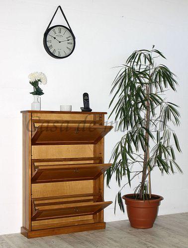 Schuhkommode DECOR 76x108x20cm Schuhschrank Schuhkipper honigfarben Vollholz  – Bild 3
