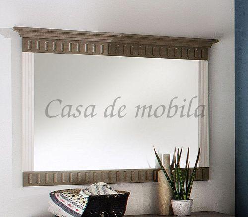 Wandspiegel POARTA 105x86cm Dielenspiegel Kiefer massiv 2farbig weiß lavafarben – Bild 1