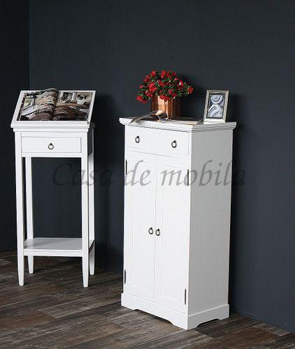 Rednerpult weiß Stehpult Lesepult Massivholz 127 cm – Bild 10