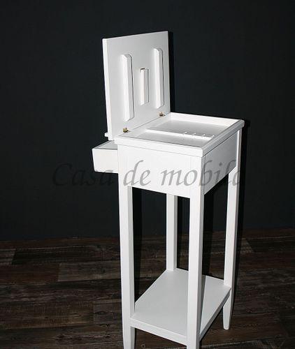 Rednerpult weiß Stehpult Lesepult Massivholz 127 cm – Bild 8