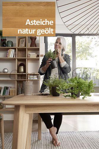 4-Fuß-Ausziehtisch NYON rustikale Asteiche natur geölt Esstisch – Bild 3