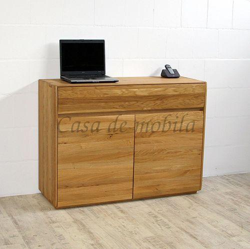 Sideboard NYON 2türig rustikale Asteiche natur geölt Kommode 120x88x42cm – Bild 9