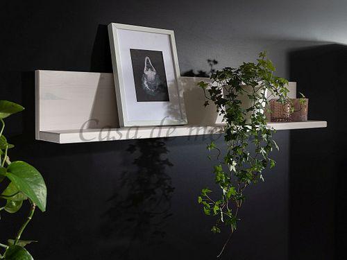 Wohnwand CELLE 4teilig 267x190x42cm Kiefer weiß gebeizt lackiert Anbauwand – Bild 8
