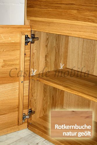 Sideboard NYON 2türig Rotkernbuche natur geölt Kommode 120x88x42cm – Bild 8