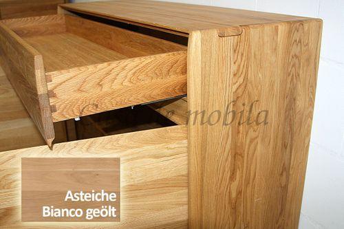 Sideboard NYON 2türig rustikale Asteiche Bianco geölt Kommode 120x88x42cm – Bild 6