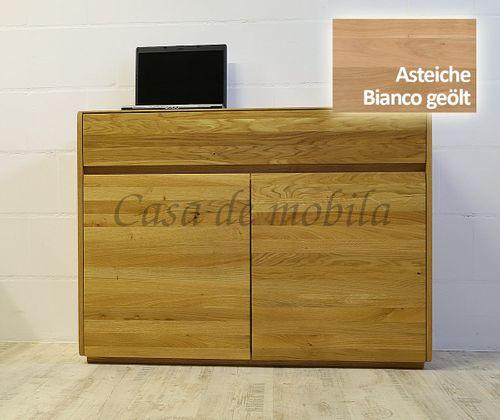 Sideboard NYON 2türig rustikale Asteiche Bianco geölt Kommode 120x88x42cm – Bild 1