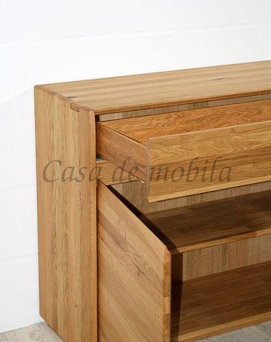 Sideboard NYON 3türig rustikale Asteiche natur geölt Kommode 178x88x42cm – Bild 3