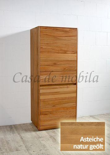 Highboard NYON 62x151x42cm rustikale Asteiche natur geölt Wohnzimmerschrank – Bild 2
