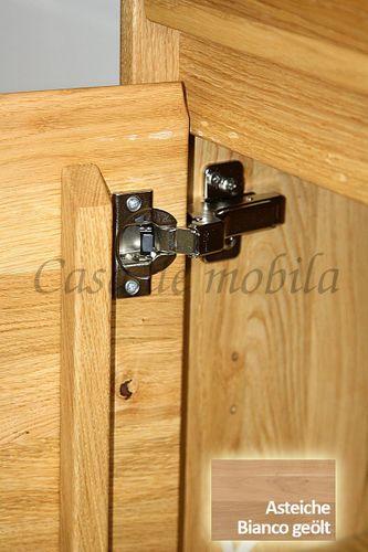 Highboard NYON 100x151x42cm rustikale Asteiche Bianco geölt Esszimmerschrank – Bild 5