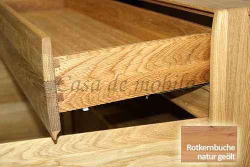 Highboard NYON 178x151x42cm Rotkernbuche natur geölt Wohnzimmerschrank – Bild 4