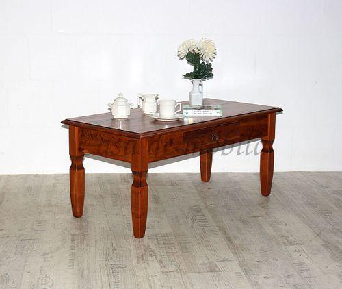 Couchtisch DECOR 100x45x50cm kirschbaumfarben Wohnzimmertisch Pappelholz massiv – Bild 2