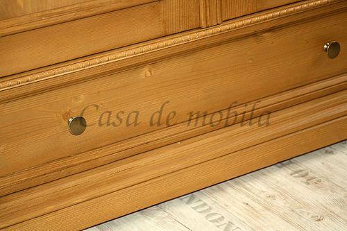 Dielenschrank VICTORIA 120x190x56cm Fichte antik gewachst Massivholz Garderobenschrank – Bild 8