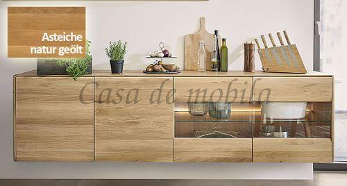 Hängeboard NYON 236x64x42cm rustikale Asteiche natur geölt Hängeschrank – Bild 3